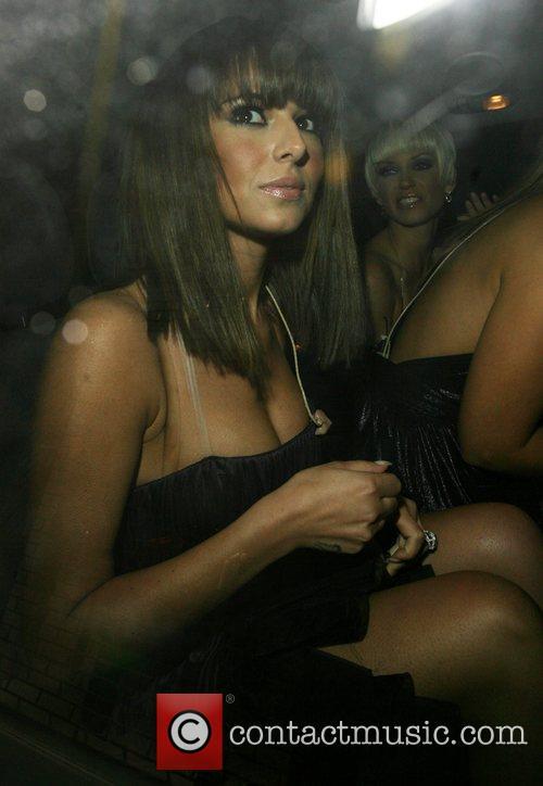 Cheryl Cole and Sarah Harding leaving Sketch nightclub...