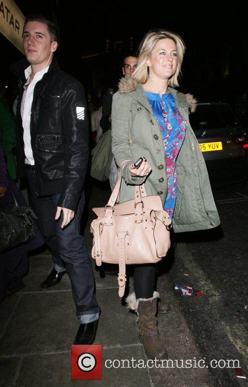 Georgina Bouzova leaving Sketch nightclub London, England