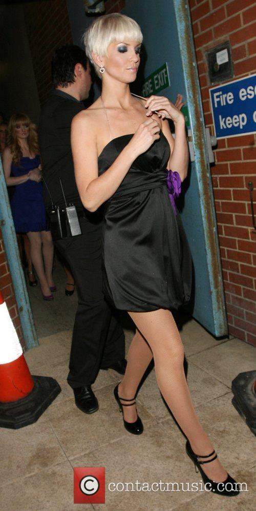 Sarah Harding  leaving Sketch club through a...