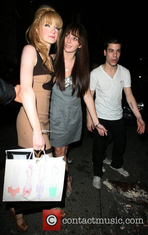 Nicola Roberts leaving her 21st birthday party a...