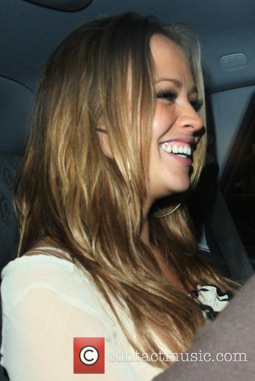 Kimberley Walsh, leaving Nicola Roberts 21st birthday party...