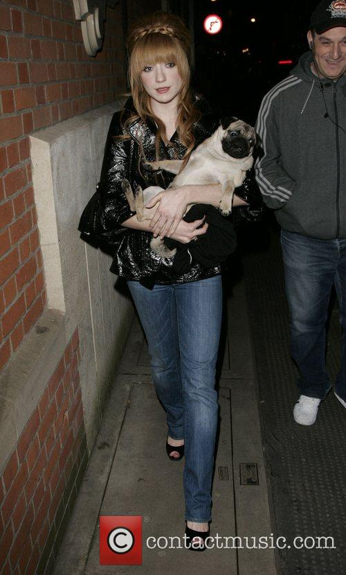 Nicola Roberts leaving The Hospital Club with her...