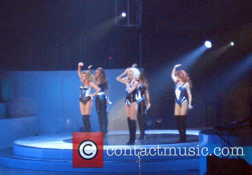 Girls Aloud performing live at the O2 Arena...