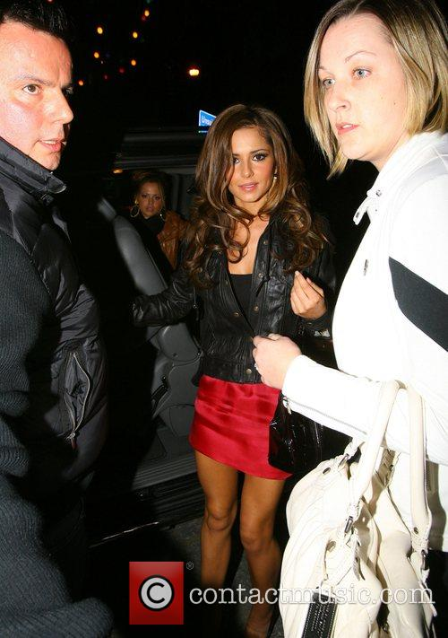Kimberley Walsh and Cheryl Cole leaving a London...