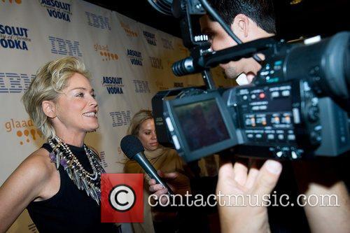 Sharon Stone GLAAD Media Awards held at The...