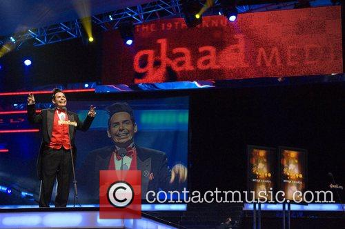 Performs at the GLAAD Media Awards at the...