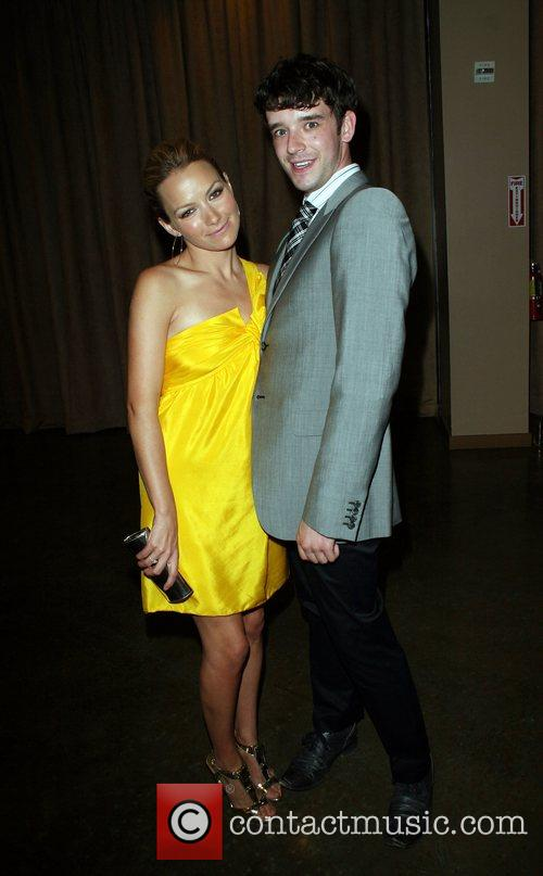 Becki Newton and Michael Urie GLAAD Media awards...