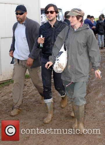 Backstage at the 2007 Glastonbury Festival at Worthy...