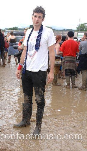 Mark Ronson at the Glastonbury Festival day 3...