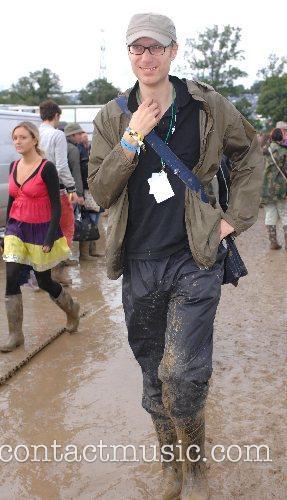 Stephen Merchant at the Glastonbury Festival day 3...