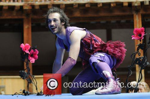 Performing in 'A Midsummer Nights Dream' at Shakespeare's...
