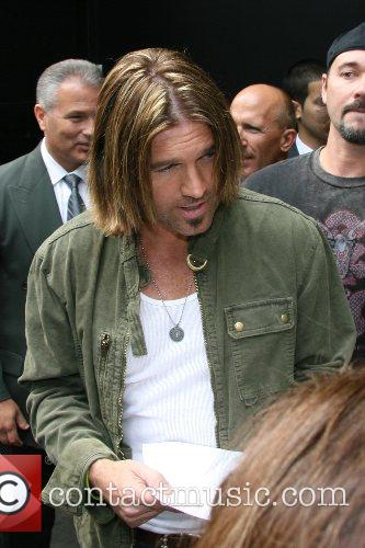 Billy Ray Cyrus leaving ABC Studios after appearing...
