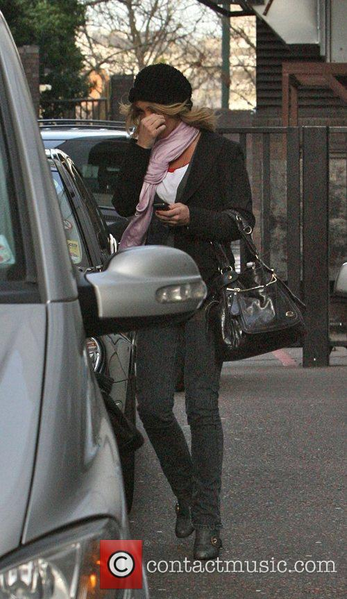 Arriving at GMTV studios today. Liz McClarnon and...
