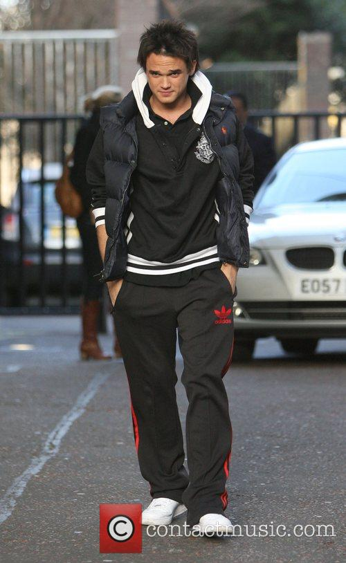 Arriving at the GMTV studios