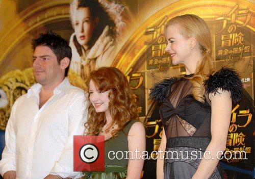 The cast of 'The Golden Compass' at a...