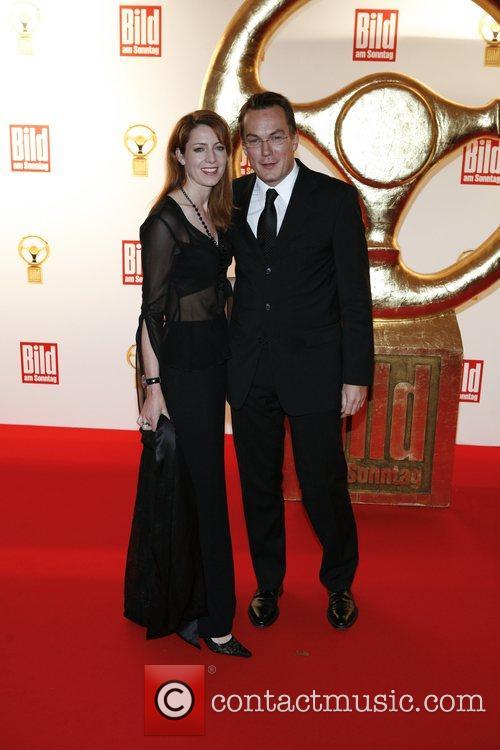 Monica Lierhaus, Rolf Hellgardt Das Goldene Lenkrad awards...