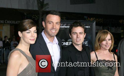 (From left) Michelle Monaghan, Ben Affleck, Casey Affleck...