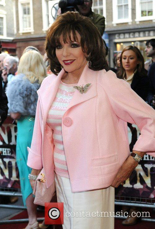 Joan Collins attends the opening night for 'Gone...