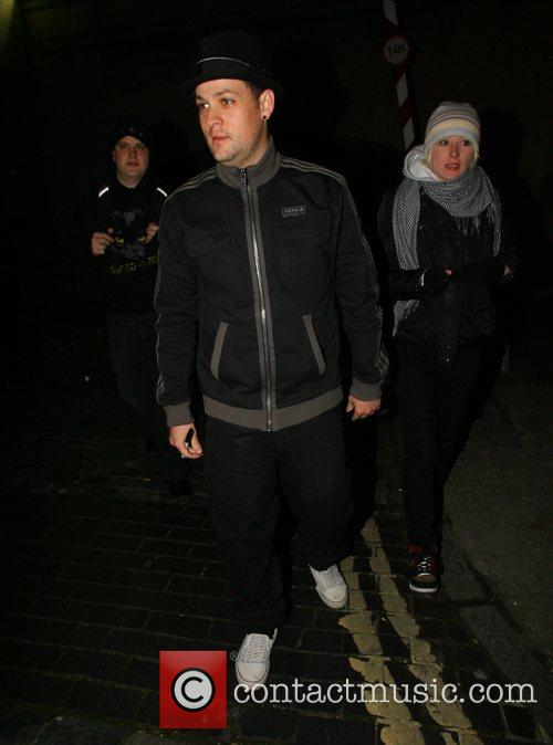 Good Charlotte leaving Southampton Guildhall, signing autographs before...