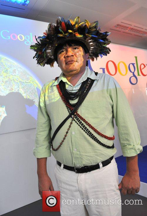 Chief Almir Surui The launch of Google Earth...