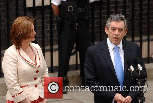 Britain's new Prime Minister Gordon Brown arrives at...