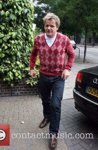 Gordon Ramsey leaving BBC Radio One studios on...