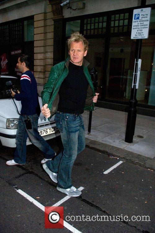 Gordon Ramsay arrives at BBC Radio One Studios...