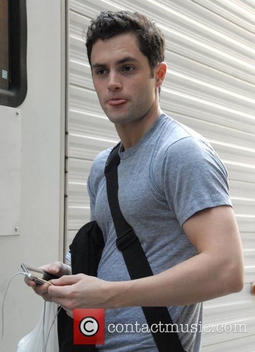 On the set of 'Gossip Girl' entering his...