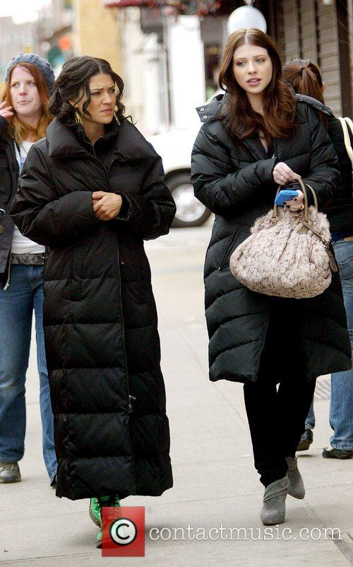 Leighton Meester and Michelle Trachtenberg at the film...