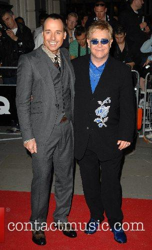 David Furnish and Sir ELton John GQ Awards...