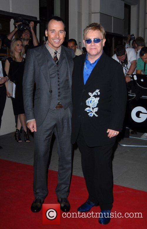 David Furnish, Elton John GQ Awards held at...