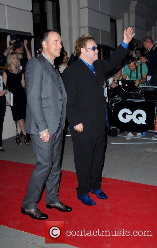 David Furnish and Elton John GQ Awards held...
