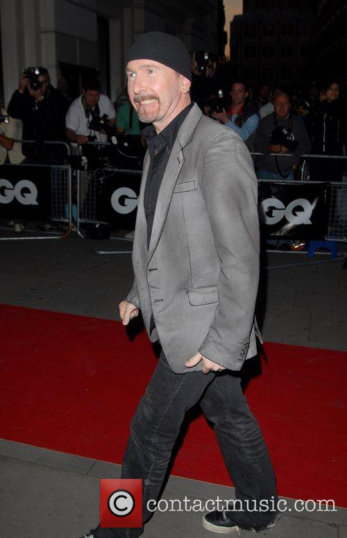 The Edge from U2 GQ Awards held at...