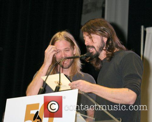 Taylor Hawkins and Dave Grohl of Foo Fighters...