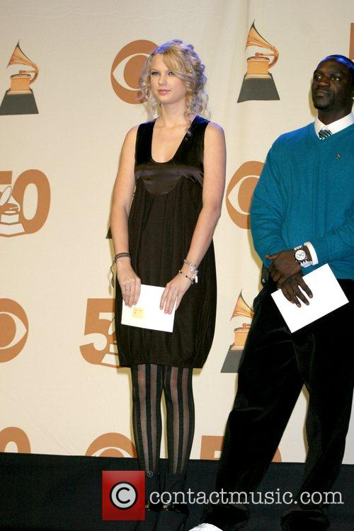 Taylor Swift and Akon 2008 Grammy Nominations Announcements...