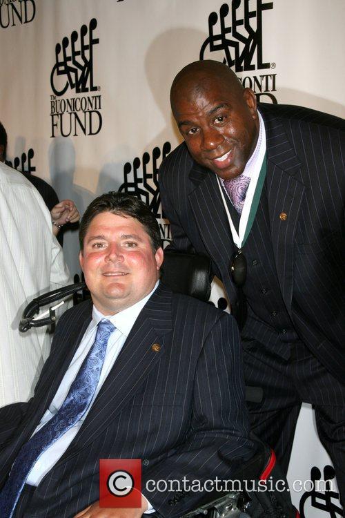 Marc Buoniconti and Magic Johnson The 22nd Anniversary...