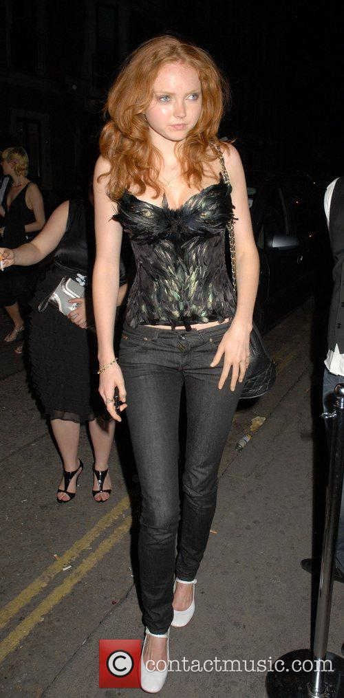Lily Cole leaving the Green carnation Bar in...