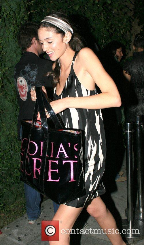 Caroline D'amore Leaving the Green Door nightclub. Hollywood,...
