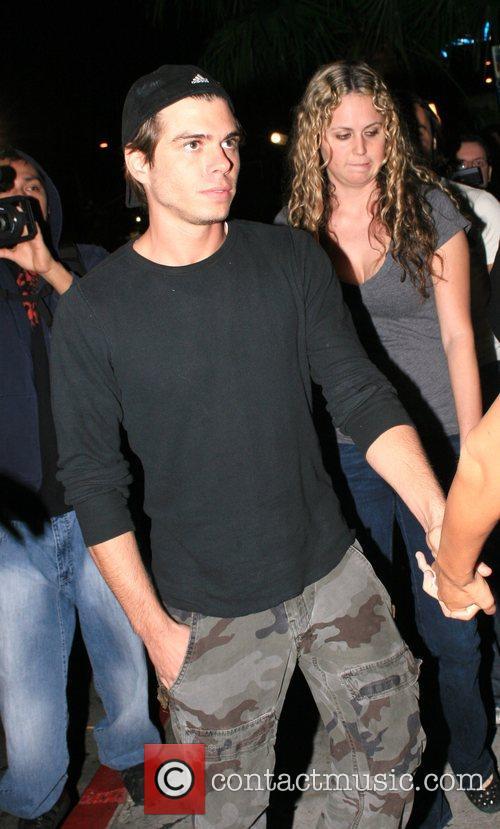 Guest Leaving the Green Door nightclub. Hollywood, California