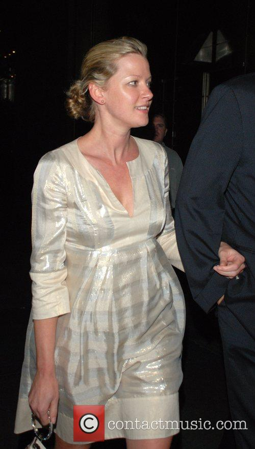 Gretchen Mol and her husband leaving the New...