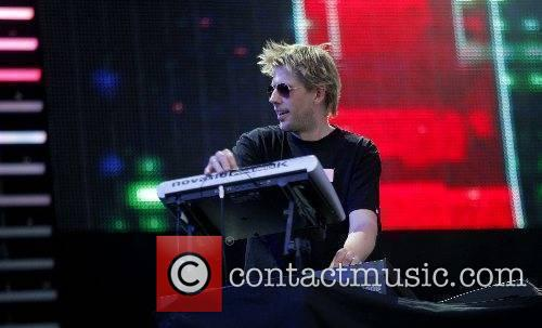 Groove Armada performing live at the Isle of...