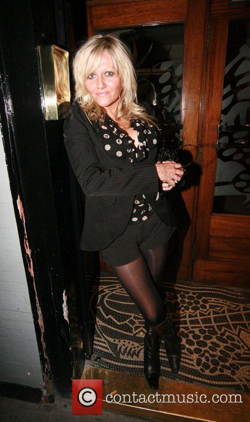 Camille Coduri leaving the Groucho