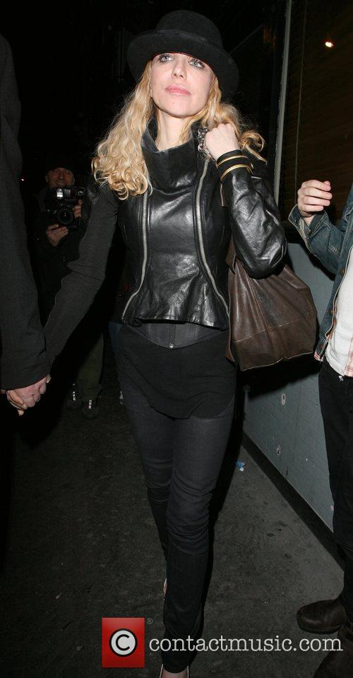 Courtney Love leaving the Groucho private members club,...