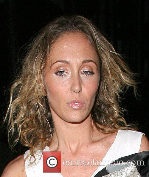 Jenny Frost of Atomic Kitten, leaving the Groucho...