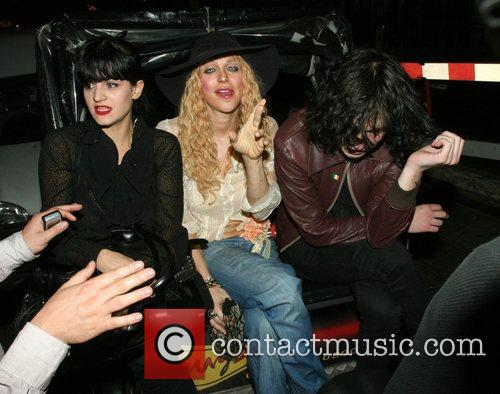 Courtney Love leaving The Groucho Club with friends...