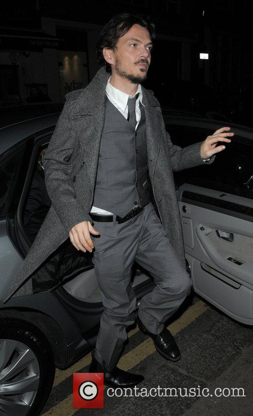 Matthew Williamson outside of The Groucho Club London,...