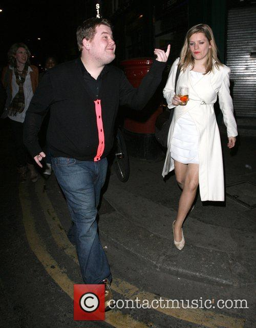 James Corden leaves the Groucho club rather worse...