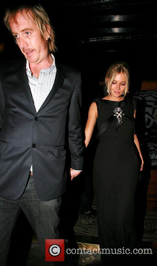Rhys Ifans and Sienna Miller outside The Groucho...