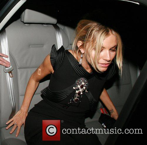 Sienna Miller outside The Groucho Club London, England
