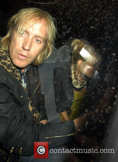 Sienna Miller and Rhys Ifans leaving the Groucho...